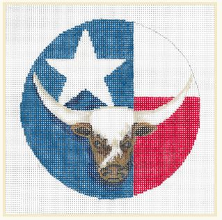 click here to view larger image of Texas Ornament (hand painted canvases)