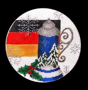 click here to view larger image of Germany Ornament (hand painted canvases)