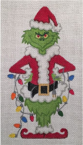 Grinch Ornament - Small hand painted canvases
