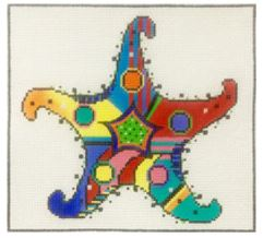 click here to view larger image of Patterned Starfish (hand painted canvases)