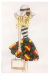 click here to view larger image of Springtime Girl (hand painted canvases)