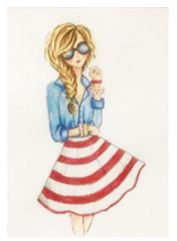 click here to view larger image of Summertime Girl (hand painted canvases)