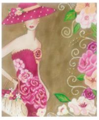 click here to view larger image of Fashion Woman in Pink (hand painted canvases)