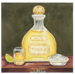 click here to view larger image of Tequila Bottle (hand painted canvases)