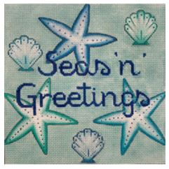 click here to view larger image of Seas n Greetings Ornament (hand painted canvases)
