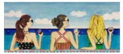 click here to view larger image of Girls on Beach (hand painted canvases)