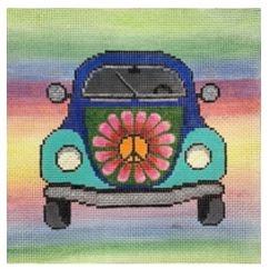 click here to view larger image of Rainbow VW Bug (hand painted canvases)