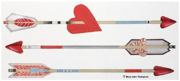 click here to view larger image of Arrows (hand painted canvases)