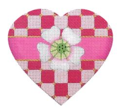 click here to view larger image of Checkerboard Heart (hand painted canvases)