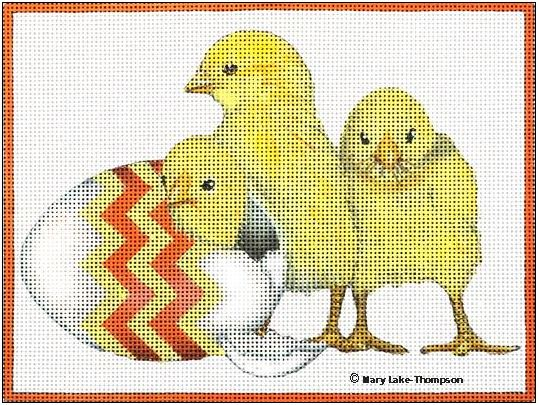 click here to view larger image of Chicks (hand painted canvases)