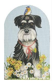 click here to view larger image of Daisy Schnauzer  (hand painted canvases)
