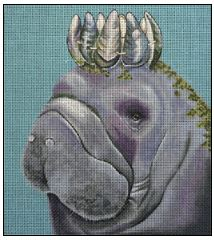 click here to view larger image of Manatee (hand painted canvases)