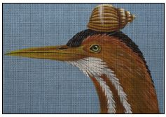 click here to view larger image of Bittern (hand painted canvases)