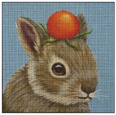 click here to view larger image of Tomato Bunny (hand painted canvases)