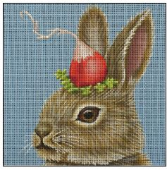 click here to view larger image of Radish Bun (hand painted canvases)