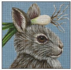click here to view larger image of Scallion Bunny (hand painted canvases)