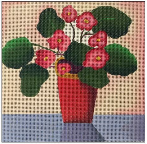 click here to view larger image of Red Vase Bouquet (hand painted canvases)
