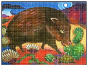 click here to view larger image of Javelina Snackin (hand painted canvases)