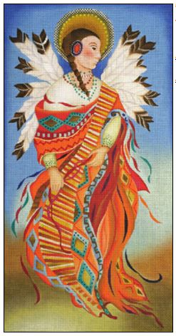 click here to view larger image of Indian Angel (hand painted canvases)
