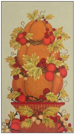 click here to view larger image of Pumpkin Topiary (hand painted canvases)