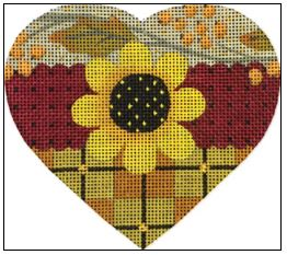 click here to view larger image of Sunflower Heart (hand painted canvases)