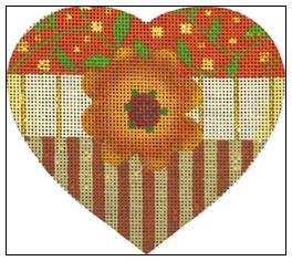 click here to view larger image of Vine Heart (hand painted canvases)