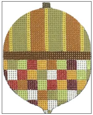 click here to view larger image of Checker Acorn (hand painted canvases)