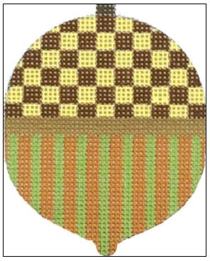 click here to view larger image of Brown Checks and Stripes (hand painted canvases)
