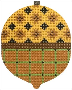 click here to view larger image of Quilt Top Acorn (hand painted canvases)