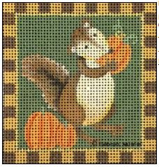 click here to view larger image of Pumpkin Squirrel (hand painted canvases)