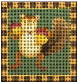 click here to view larger image of Acorn Squirrel (hand painted canvases)