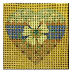 click here to view larger image of Trellis Heart (hand painted canvases)