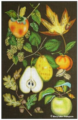 click here to view larger image of Autumn Fruit (hand painted canvases)