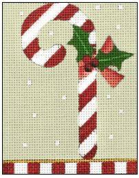 click here to view larger image of Candy Cane (hand painted canvases)