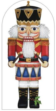 click here to view larger image of Drummer Nutcracker (hand painted canvases)
