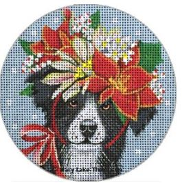 click here to view larger image of Border Collie Ornament (hand painted canvases)