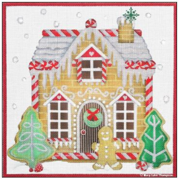 click here to view larger image of Ginger Bread House (hand painted canvases)
