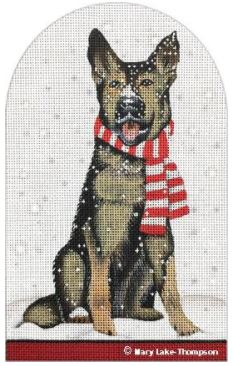 click here to view larger image of Snowy Shepard (hand painted canvases)