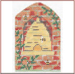 click here to view larger image of Bee Skep In Brick Wall Embellishment Kit (books)