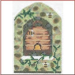 click here to view larger image of Bee Skep In Field Stone Wall Embellishment Pack (books)
