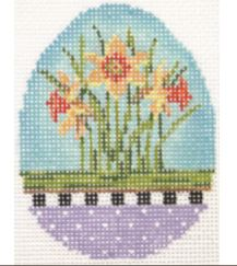 click here to view larger image of Daffodil Garden Egg (hand painted canvases)