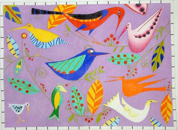 click here to view larger image of All The Birds (hand painted canvases)