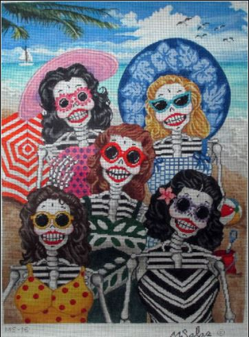 click here to view larger image of Bathing Beauties (hand painted canvases)