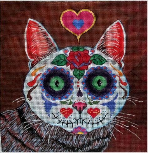 click here to view larger image of Calaca Kitty (Tabby) (hand painted canvases)
