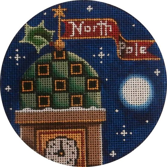 click here to view larger image of Clock Tower Ornament (hand painted canvases)