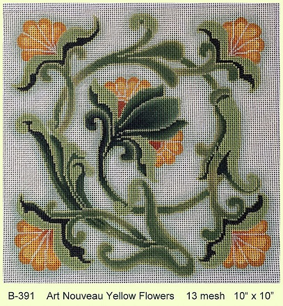 click here to view larger image of Art Nouveau Yellow Flowers (None Selected)