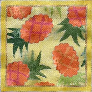 click here to view larger image of Pineapple Print Square (None Selected)