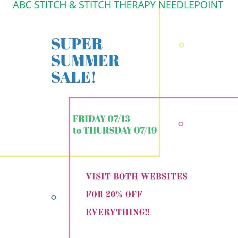 Stitch Therapy Needlepoint Sale